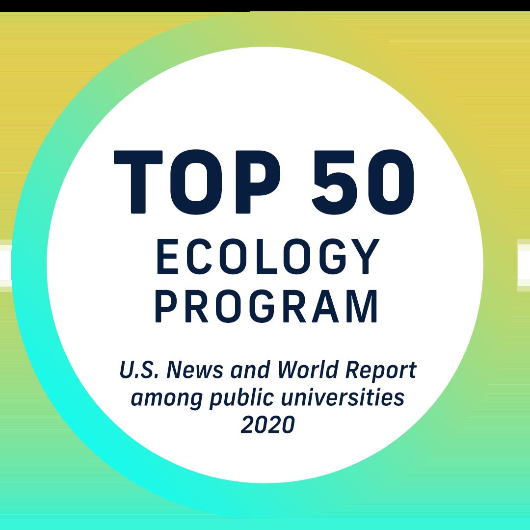 Top 50 ecology program - U.S. News and World Report - among public universities 2020