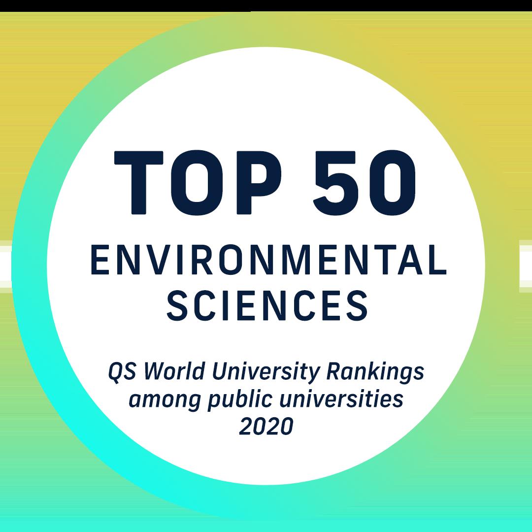 Top 50 environmental sciences - by QS World University Rankings - among public universities 2020